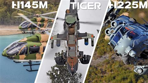 H145M, Tiger & H225M Caracal in action - YouTube