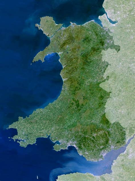 Wales Map or Map of Wales