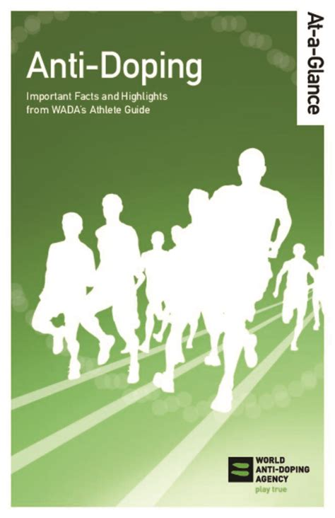 At-a-Glance - About Anti-Doping | World Anti-Doping Agency