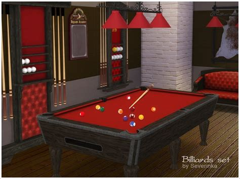 Sims 4 CC's - The Best: Billiards set by Severinka