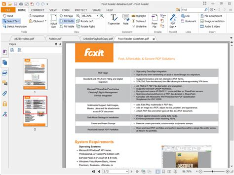 Foxit Reader and Foxit PhantomPDF gain Shared Review, 2D