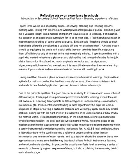 FREE 19+ Reflective Essay Examples & Samples in PDF | Examples