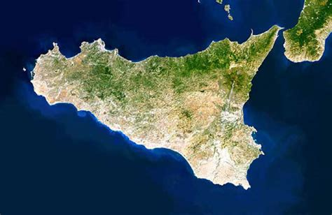 Sicily Map or Map of Sicily