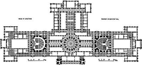 Plan of the Parliament House, Budapest, 1885–1902