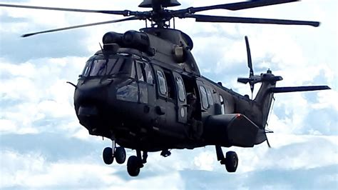 Helicopter Airbus Helicopters H225M Army Take Off Video
